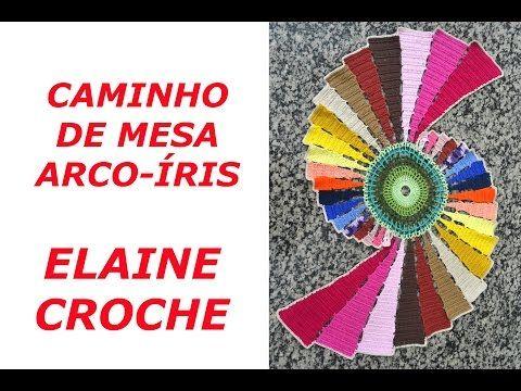 CAMINHO DE MESA ARCO-ÍRIS EM CROCHÊ - YouTube