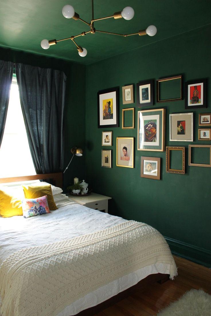 25 Best Ideas About Dark Green Rooms On Pinterest