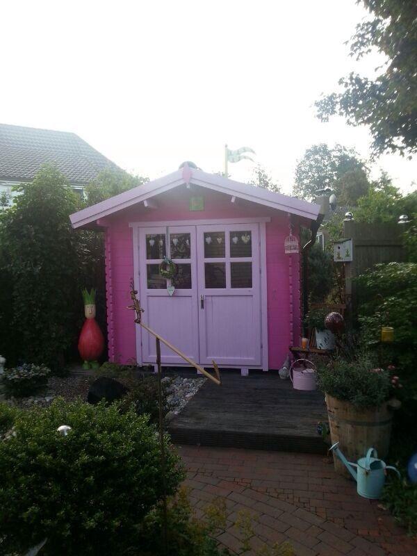 De 43 beste afbeeldingen over verf je tuinhuis overkapping painting outdoor garden house op - Hoe roze verf ...