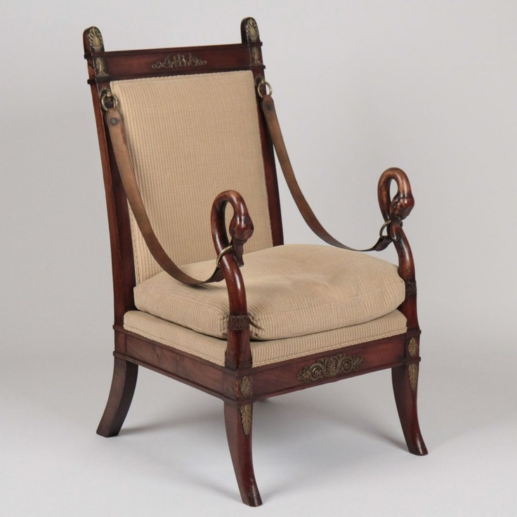 French Empire Style Mahogany Gilt Bronze or Metal Mounted Swan Carved  Antique Arm Chair. 92 best Furniture  Empire   Other Styles images on Pinterest
