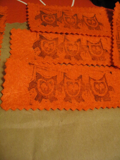 #felt stamped with owls.    save on party and craft supplies for 2013 ..up to 70% off retail... #arts ..#crafts .. #sewing ... share .. repin .. like  :)    http://amzn.to/13iw3yo