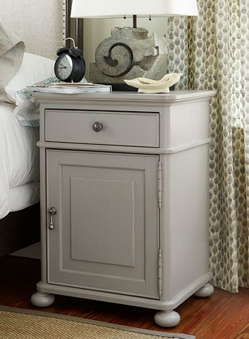 paula deenu0027s cobblestone finish door nightstand grand home furnishings - Paula Dean Furniture