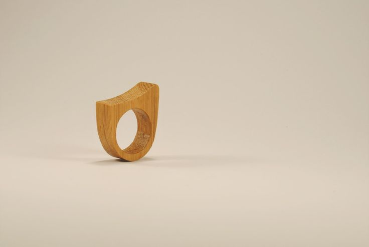 Wooden oak ring, original wave shaped ring, natural handmade ring by WowodesignShop on Etsy https://www.etsy.com/listing/477224330/wooden-oak-ring-original-wave-shaped