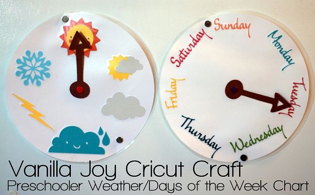 weather chart | would add pictures of what we're doing that week on different days (church-Sunday, library-Monday, park-Thursday) to help kids keep track of how many days until _____