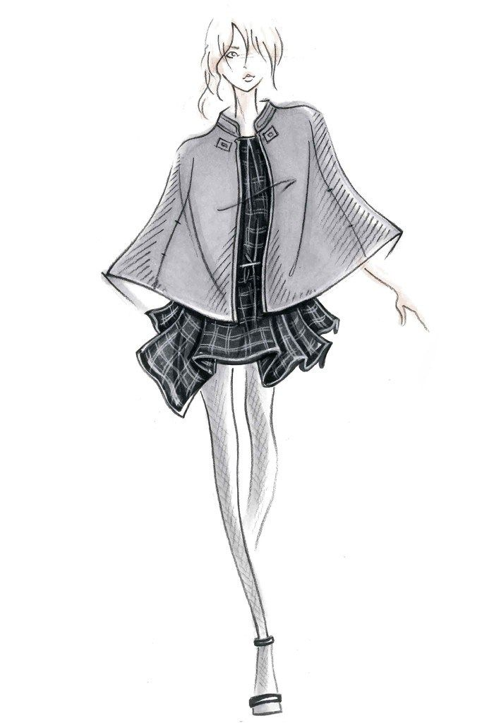 Fashion illustration - fashion design sketch for Joie