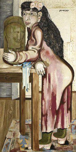 Jankel Adler (1895-1949) Judith with the Head of Holofernes 1927-28  Oil on canvas; 149.9 x 76.2 cm. (Christie's Tel Aviv, 2006)