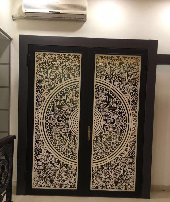 Saudiarabia Riyadh Doors Gates Design Cnc Lifestyle Modern Cadd Beautiful Metaldoor Lasercut Door Glass Design Iron Door Design Sliding Door Design