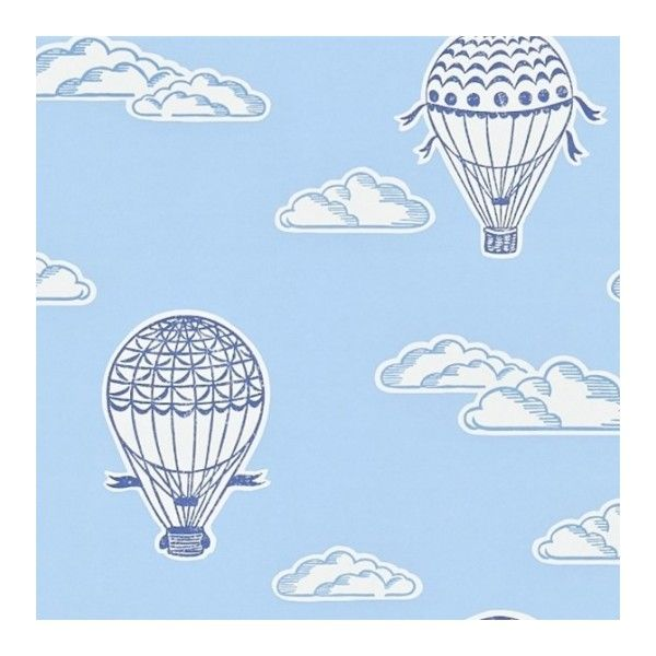 Sanderson Sale Balloons Wallpaper ($21) ❤ liked on Polyvore featuring home, home decor, wallpaper, white wallpaper, white home decor, sky clouds wallpaper, cloud wallpaper and hot air balloon wallpaper