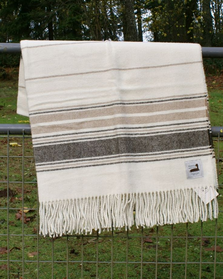 Alpaca Blanket Project - DESCHUTES Alpaca Blanket / Alpaca Throw  PurelyAlpaca is so very pleased to offer this commercial quality alpaca blanket throw made from USA alpaca farm fiber as part of the Alpaca Blanket Project!   Made in the USA by Pendleton with 100% US bred alpaca. Solid white basketweave design. Appx 53 x 70 inches. Dry clean (recommended) or machine wash delicate/air dry.  www.purelyalpaca.com