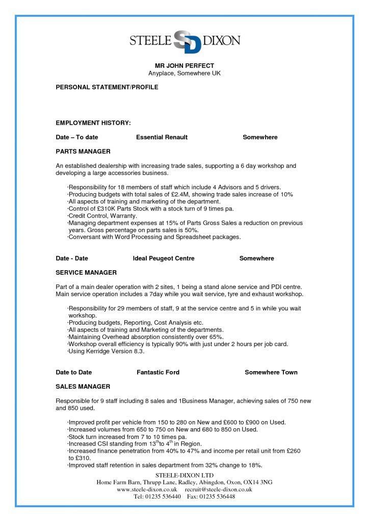 Más de 25 ideas únicas sobre Perfect resume example en Pinterest - sample of a perfect resume