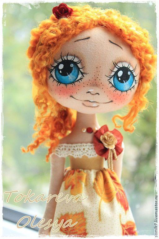 """Купить Девочка """"Золотая осень"""" - коллекционная кукла, авторская кукла…"""