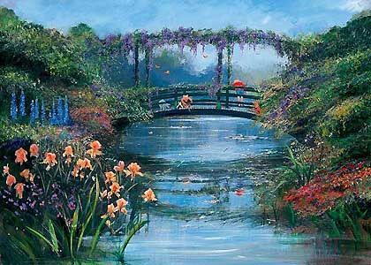 Winnie the Pooh - Pooh Sticks - Harrison Ellenshaw - World-Wide-Art.com - $850.00 #Disney #Ellenshaw