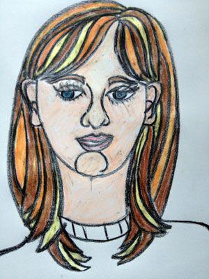 Artsmudge: self portrait for kids
