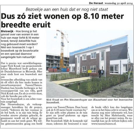 Dus zó ziet wonen op 8.10 meter breedte eruit. Levensechte villa's op doek trekken de aandacht in Bleiswijk