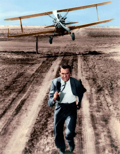 North by Northwest [1959] directed by Alfred Hitchcock, starring Cary Grant, Eva Saint Marie, and James Mason.                                                                                                                                                      More
