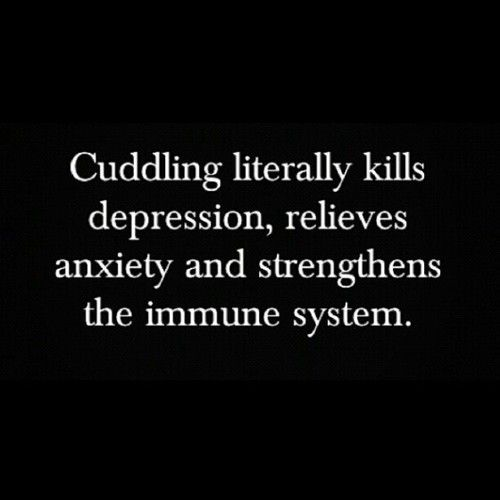 oh so that's why I've been sick lately...I certainly am not getting my share of cuddles!