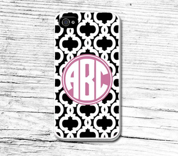 Monogram Phone CaseGeometric iPhone 5 CaseCustom Floral by Caseby