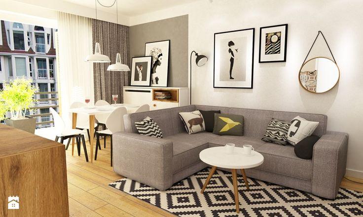 Mieszkanie w realizacji - Salon, styl skandynawski - zdjęcie od Grafika i Projekt architektura wnętrz