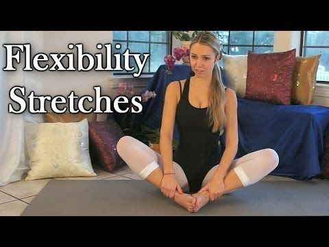 ▶ Flexibility Stretches For Dancers, Cheerleaders & Gymnasts, Beginners Exercises Routine - YouTube