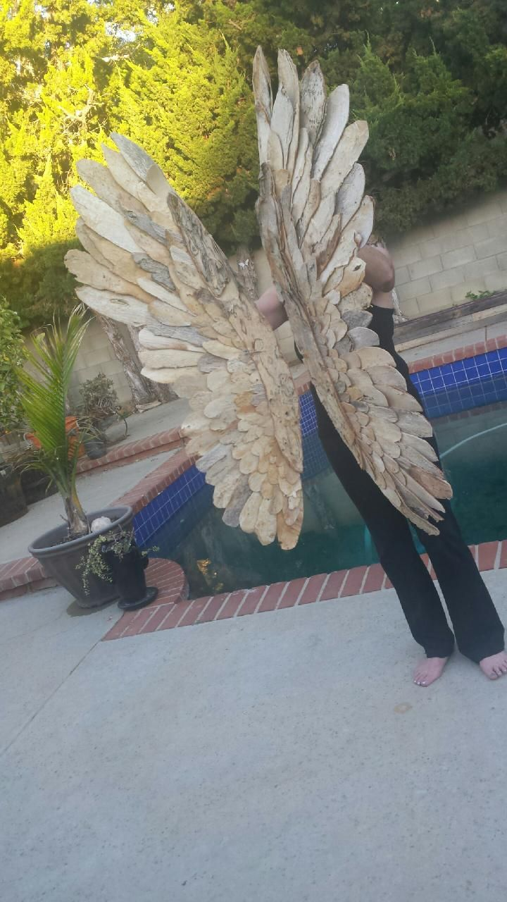 Paperbark Artwork Wings made out of