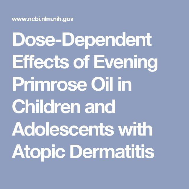 Dose-Dependent Effects of Evening Primrose Oil in Children and Adolescents with Atopic Dermatitis