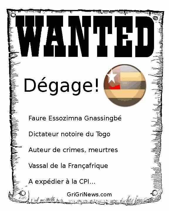 #Togo! Dégage Faure Gnassingbé...