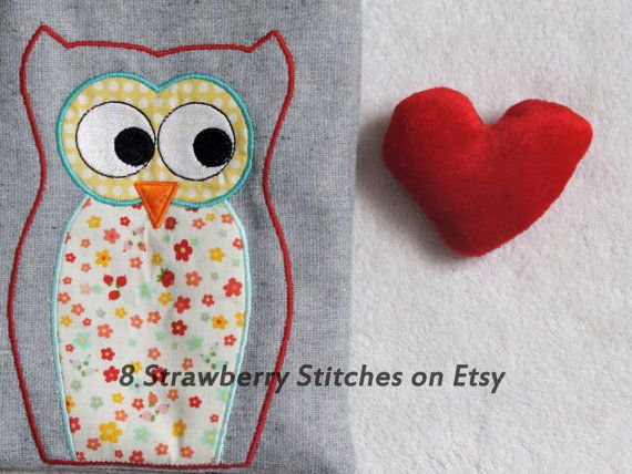 #Owl #applique #design machine embroidery owl by 8StrawberryStitches, $4.00 @FSB from Etsy