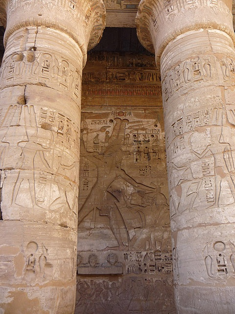 LUXOR (THEBES), EGYPT - Temple of Medinet Habu - 1st Court/ ЛУКСОР, ЕГИПЕТ - Храм Мединет-Хабу - 1-ый дворик by Miami Love 1, via Flickr