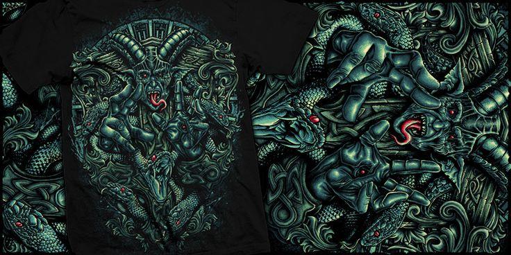 """""""unleash faith"""" t-shirt design by burntilldead"""