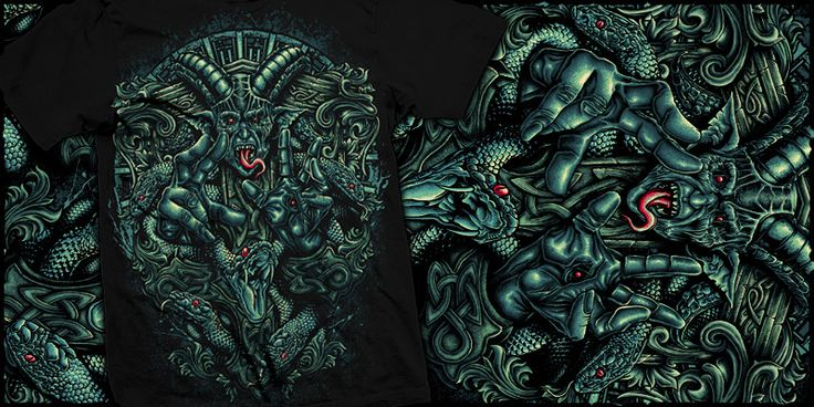 """unleash faith"" t-shirt design by burntilldead"