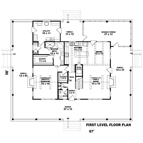 Florida Cracker Style House Blueprint Blue Prints