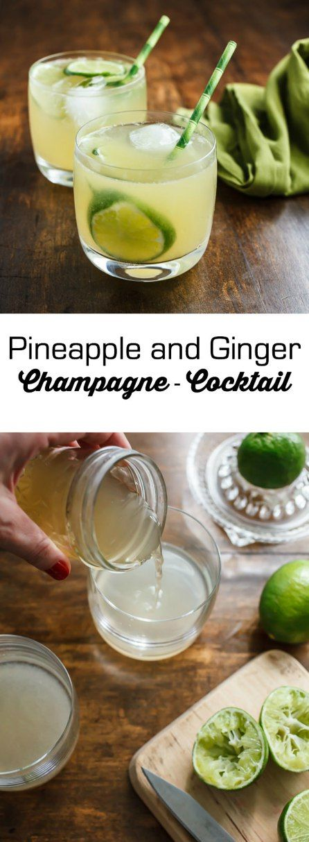 This recipe for my pineapple-ginger-champagne-cocktail is perfect for ...