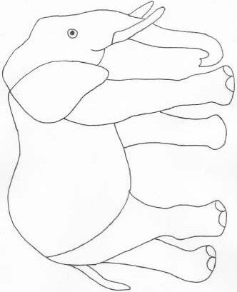 Baby Elephant Stained Glass Pattern Sewing Patterns For Baby
