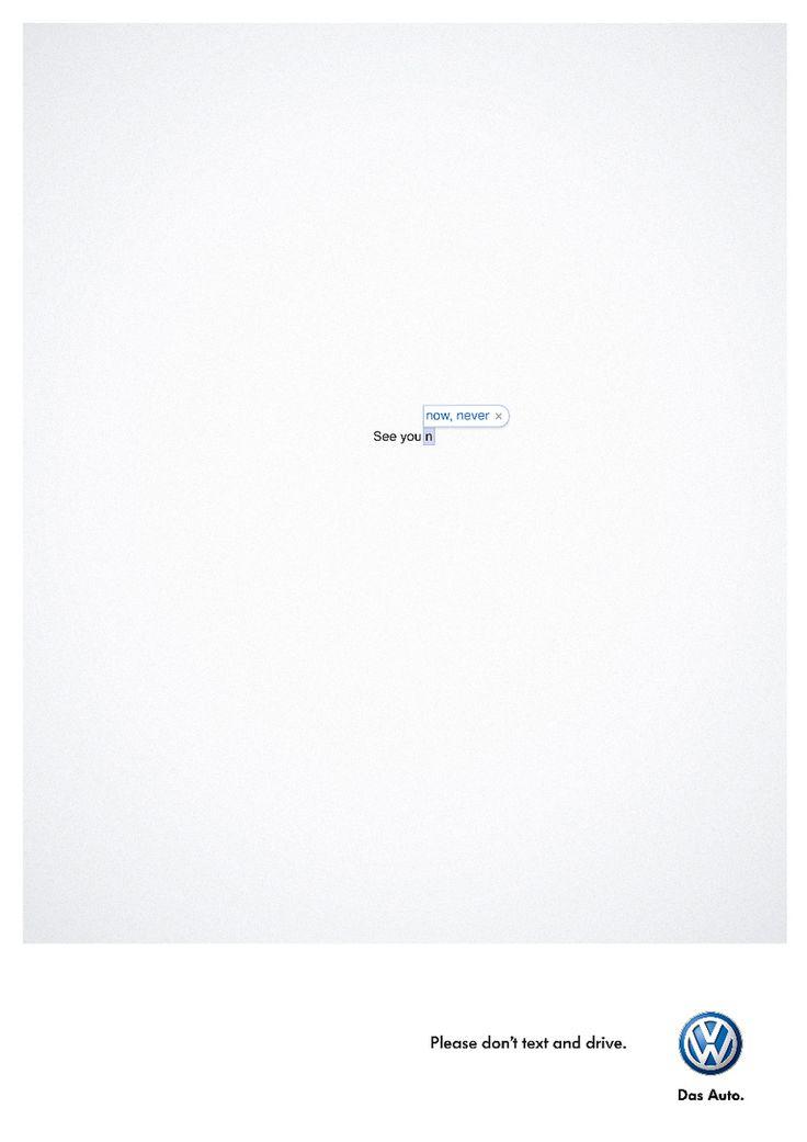SNSでコミュニケーションは雑になっていませんか - 参考:予測変換機能が示す未来!? 文字のみで表現したフォルクスワーゲンの広告     AdGang