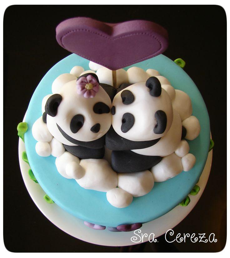 Torta amor Panda - Panda love cake