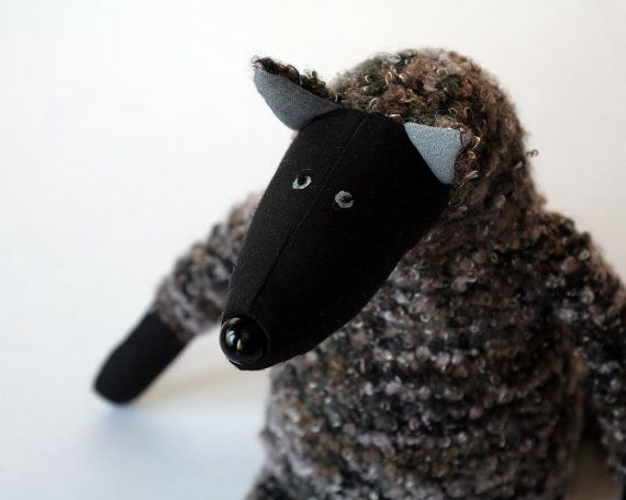 Grey Wolf stuffed animal toy for children by andreavida on Etsy, €25.00