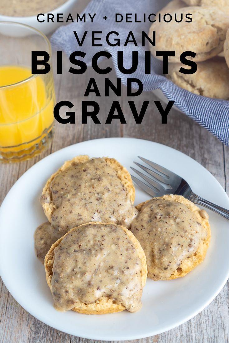 Vegan Biscuits Gravy Our Wandering Kitchen Vegan Biscuits Vegan Biscuits And Gravy Vegan Dishes