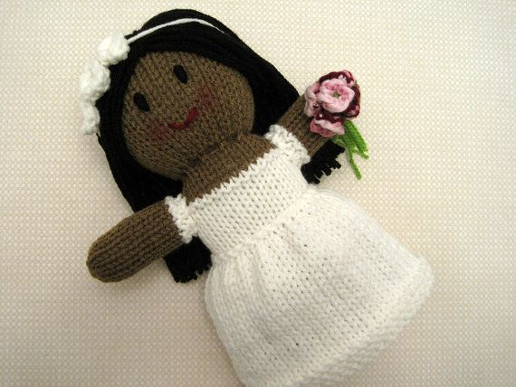 African American Bride Doll by KnitToo