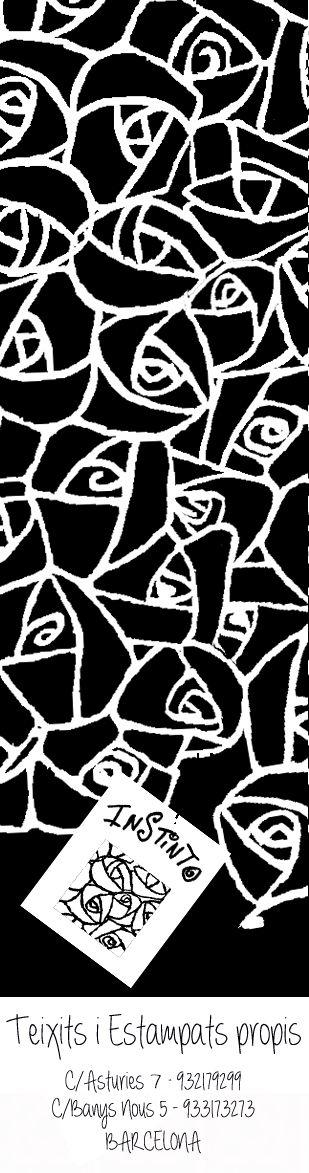 Punto de libro con dibujo de rosas modernistas #InstintoBcn