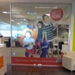 This image will show that how we do digital signage on glass shield. To know more contact at Auckland Display Signs