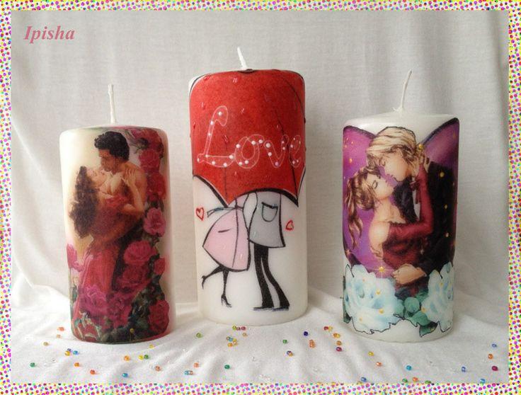 Романтические свечи-Romantic candles. one candle - 6.00 euro  two candles - 10.00 euro
