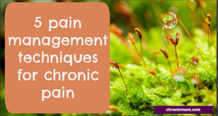 5 pain management techniques for chronic pain
