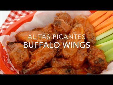 Alitas picantes o buffalo wings (sin aceite y fáciles de preparar)