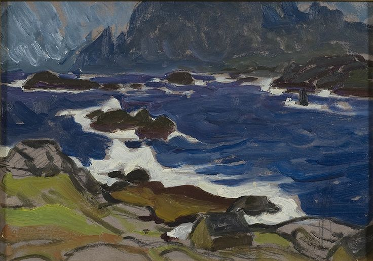 Study during the storm, Lofoten by Anna Boberg, c.1930. Nationalmuseum Sweden, CC BY-SA