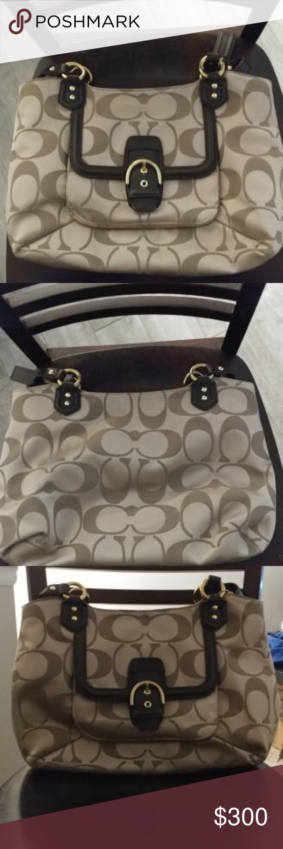 Coach Purse. Brand new Coach bag.   Never been used, still in the original bag and tissue paper from the Coach store.    Will include the fabric cleaner also! Coach Bags Satchels