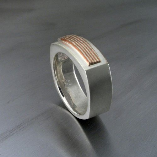 rings wedding ring unique engagement gane and mokume