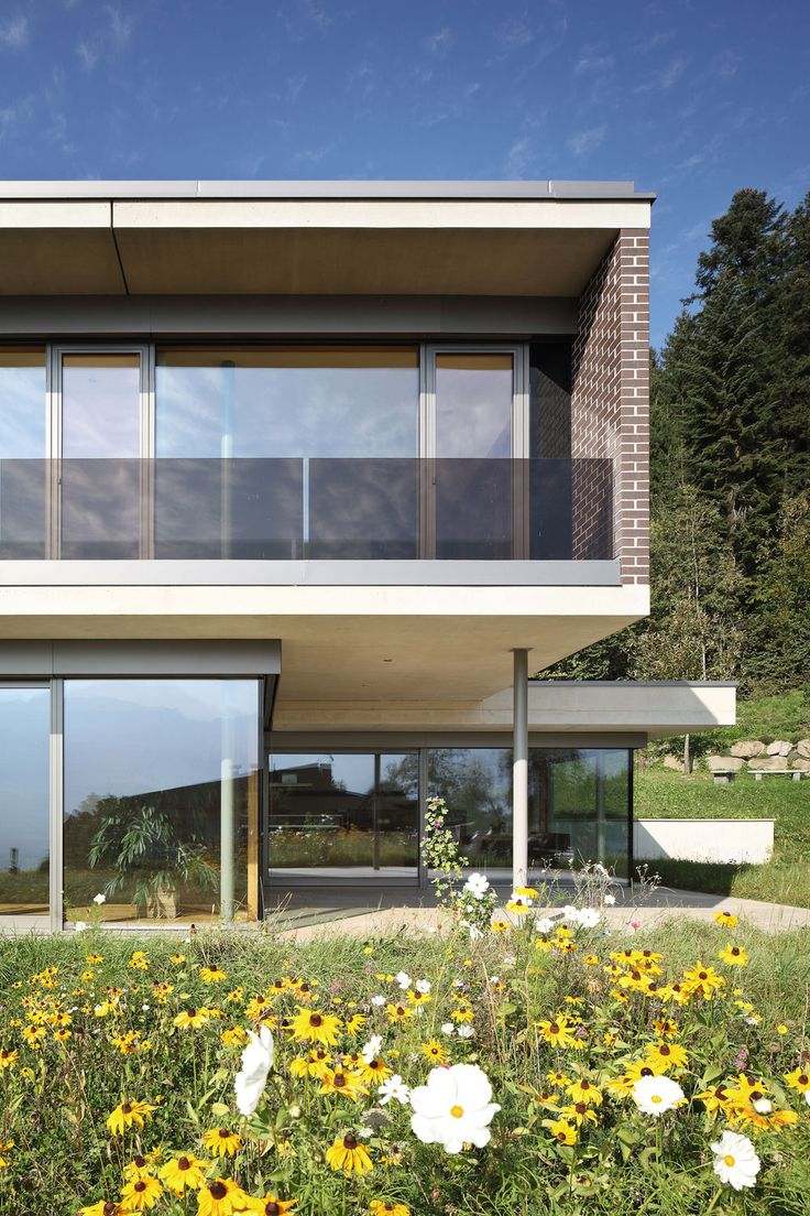 Architecture, Mesmerizing Contemporary Gulm House By Aicher Ziviltechniker  On Slope Of Walgau And Rätikon Mountain Featuring Glass Window Facade And  Garden: ... Good Ideas