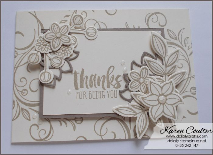 Playing Around with Falling Flowers Bundle – Stampin' Up! | Do Lally Crafts