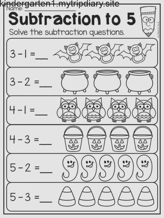 Halloween Subtraction Worksheet For Kindergarten Subtraction To 5 T Kindergarten Subtraction Worksheets Halloween Math Worksheets Math Subtraction Worksheets Cut and paste subtraction worksheets