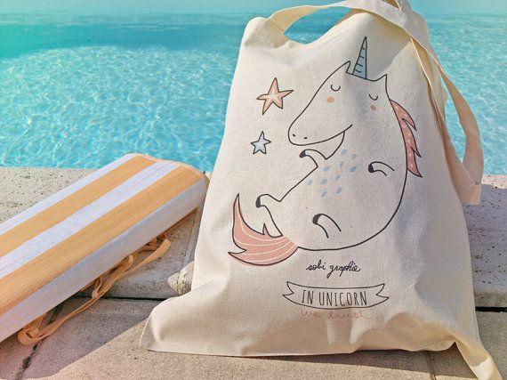Tote Bag In Unicorn we trust par Sobigraphie sur Etsy
